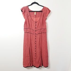 NWOT Anthro Maeve button down midi dress